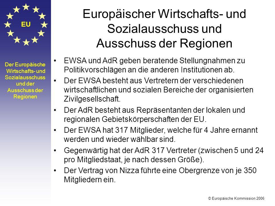 EU Europäischer Wirtschafts- und Sozialausschuss und Ausschuss der Regionen.