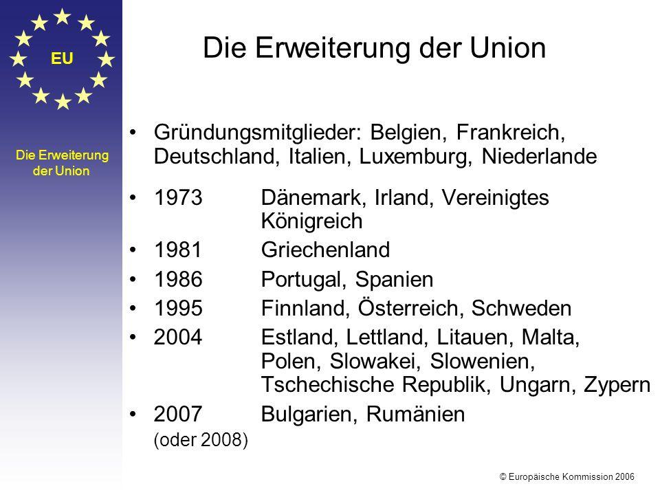 Die Erweiterung der Union