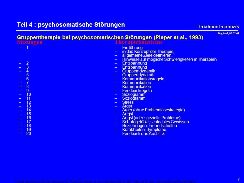 Teil 4 : psychosomatische Störungen