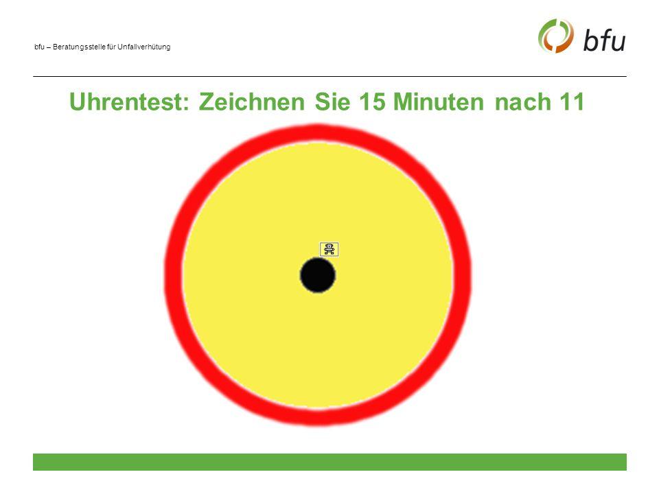 Uhrentest: Zeichnen Sie 15 Minuten nach 11