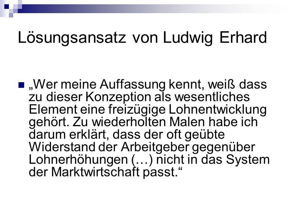 Lösungsansatz von Ludwig Erhard