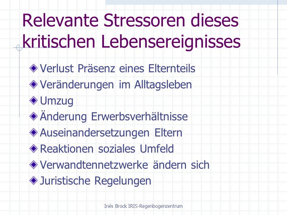 Relevante Stressoren dieses kritischen Lebensereignisses