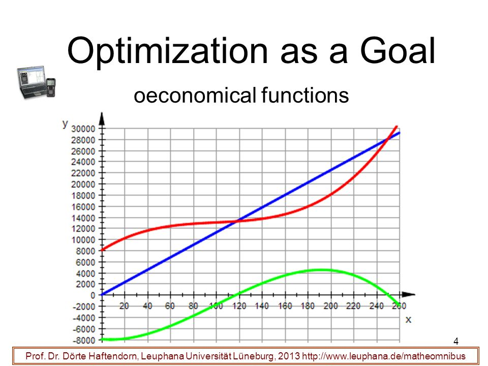 Optimization as a Goal oeconomical functions