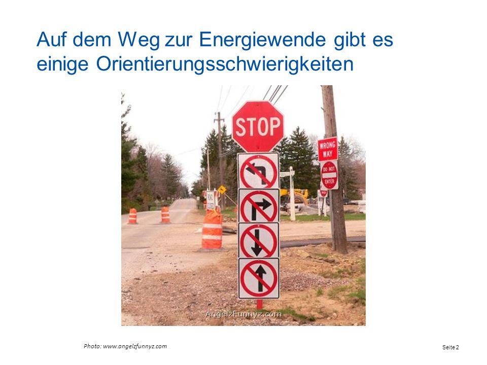 Auf dem Weg zur Energiewende gibt es einige Orientierungsschwierigkeiten