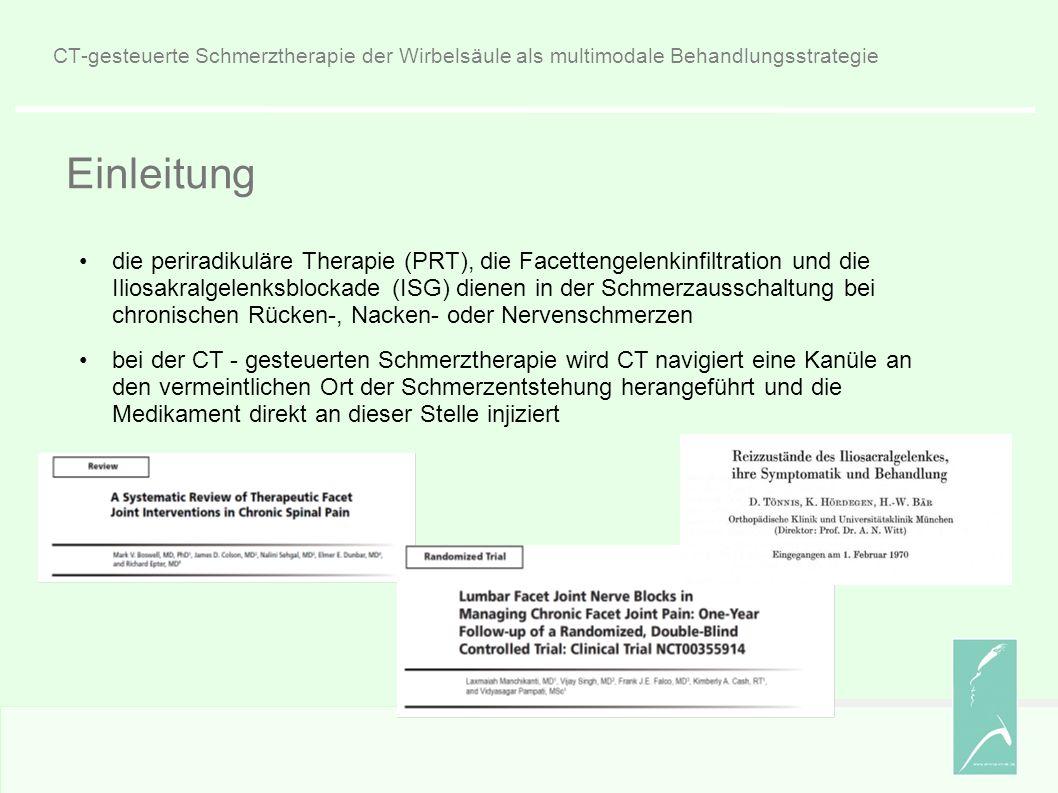 CT-gesteuerte Schmerztherapie der Wirbelsäule als multimodale Behandlungsstrategie