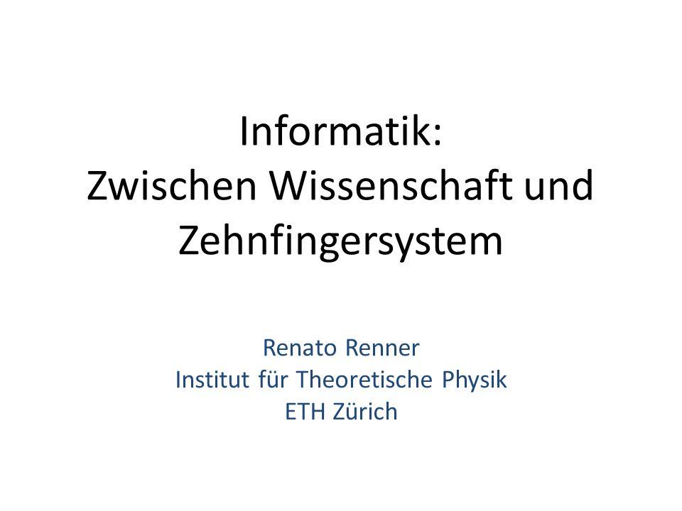 Informatik: Zwischen Wissenschaft und Zehnfingersystem