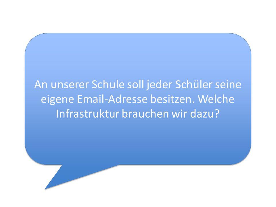 An unserer Schule soll jeder Schüler seine eigene Email-Adresse besitzen.