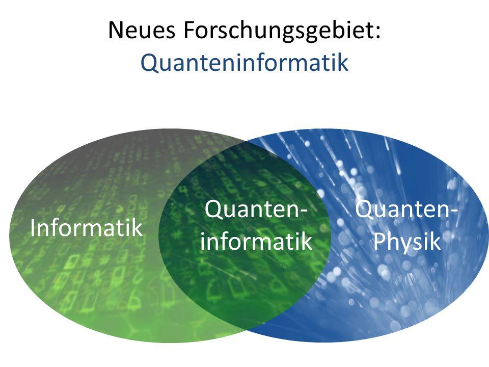 Neues Forschungsgebiet: Quanteninformatik