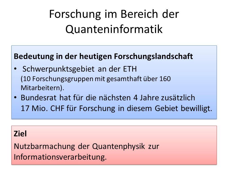 Forschung im Bereich der Quanteninformatik