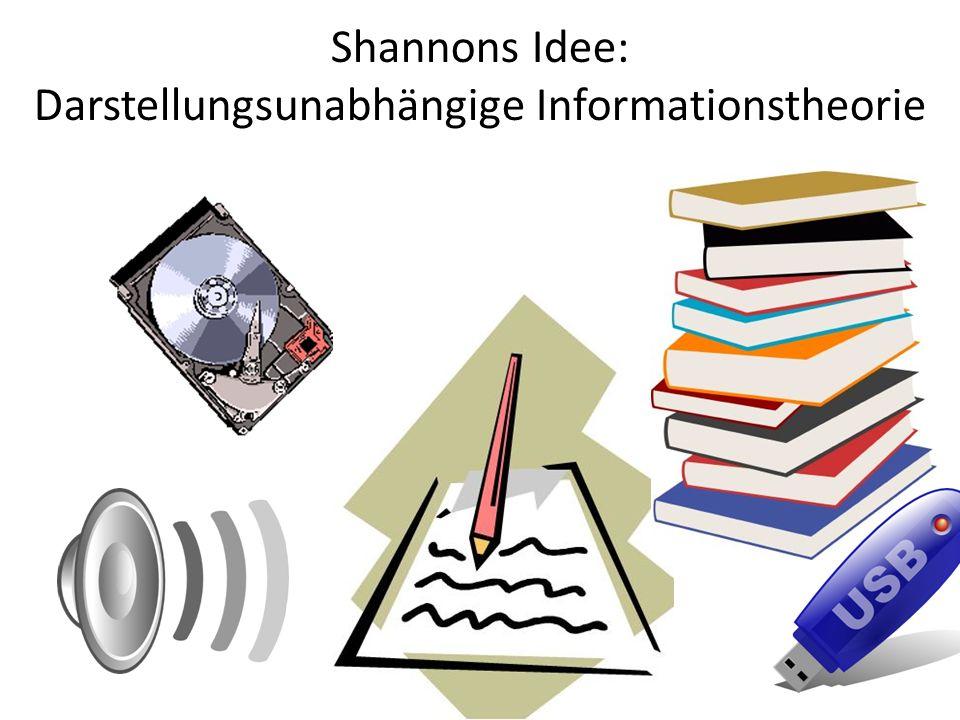 Shannons Idee: Darstellungsunabhängige Informationstheorie