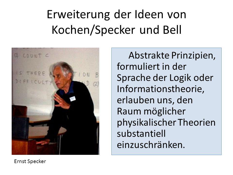 Erweiterung der Ideen von Kochen/Specker und Bell