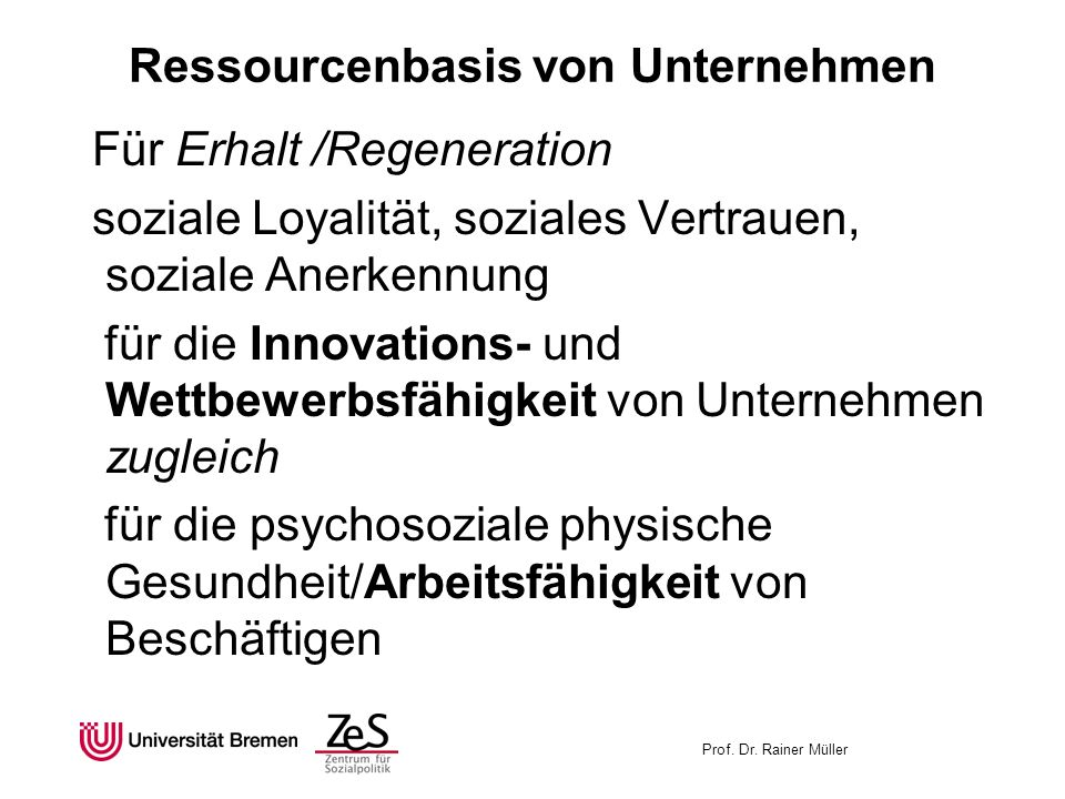 Ressourcenbasis von Unternehmen