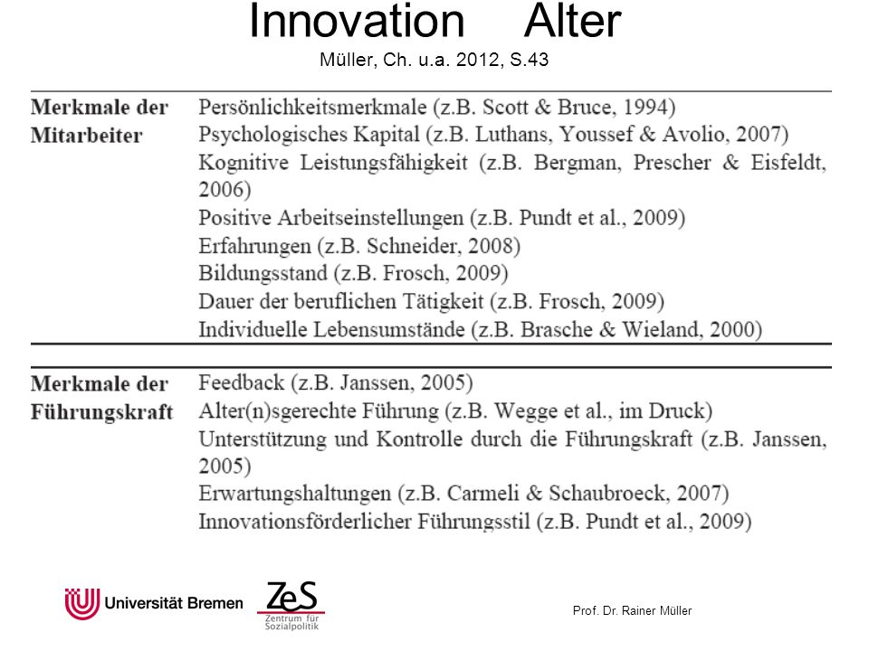 Innovation Alter Müller, Ch. u.a. 2012, S.43