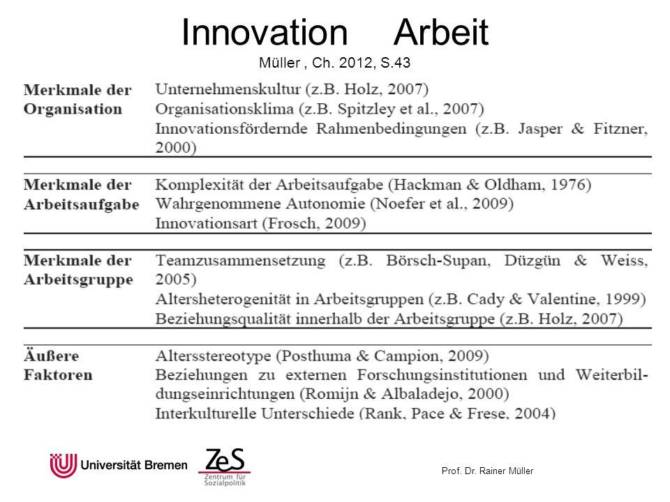 Innovation Arbeit Müller , Ch. 2012, S.43