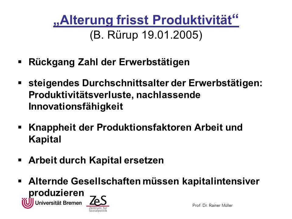 """""""Alterung frisst Produktivität (B. Rürup 19.01.2005)"""