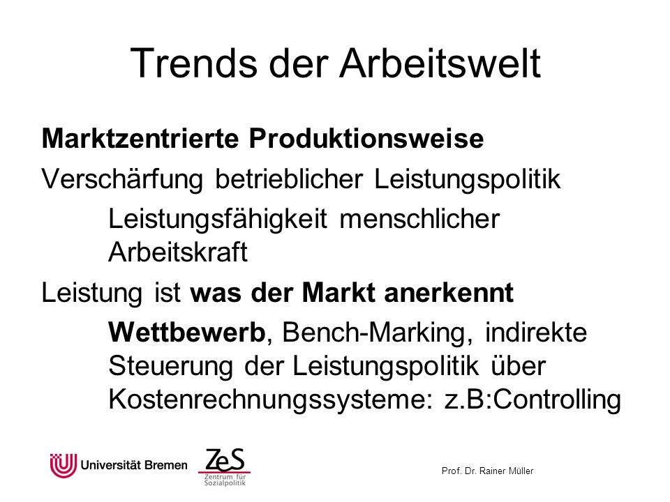 Trends der Arbeitswelt