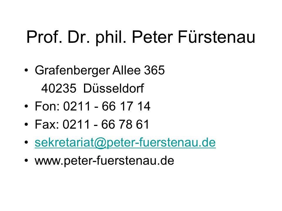 Prof. Dr. phil. Peter Fürstenau