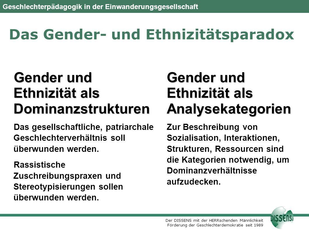 Das Gender- und Ethnizitätsparadox