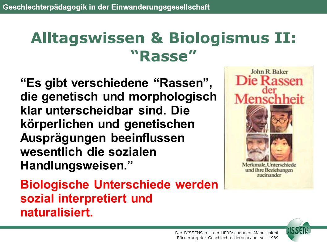 Alltagswissen & Biologismus II: Rasse