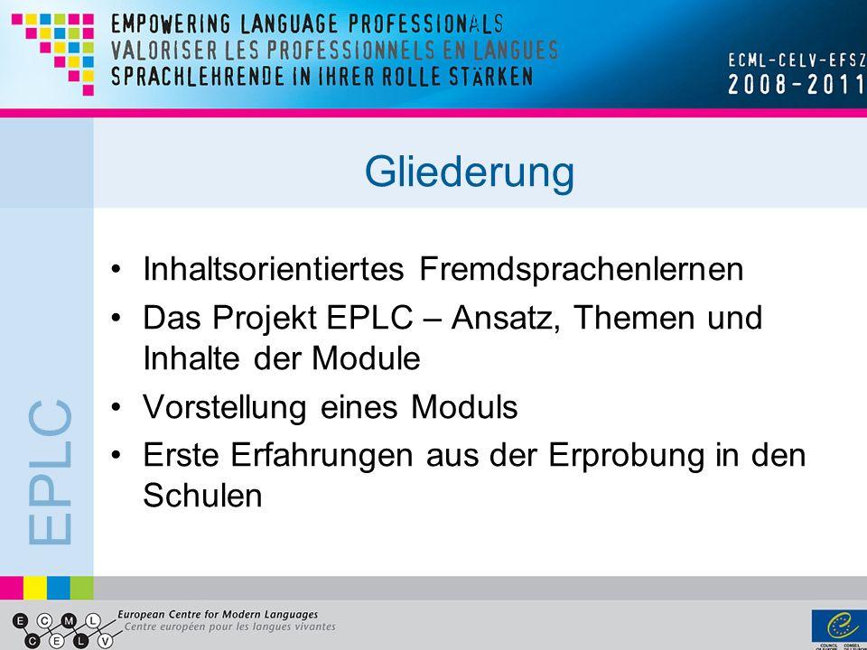 Gliederung Inhaltsorientiertes Fremdsprachenlernen