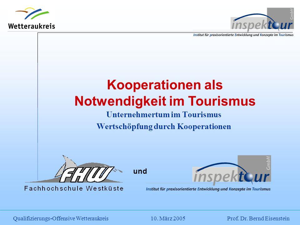 Unternehmertum im Tourismus Wertschöpfung durch Kooperationen