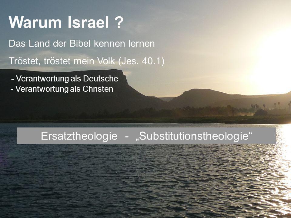 "Ersatztheologie - ""Substitutionstheologie"