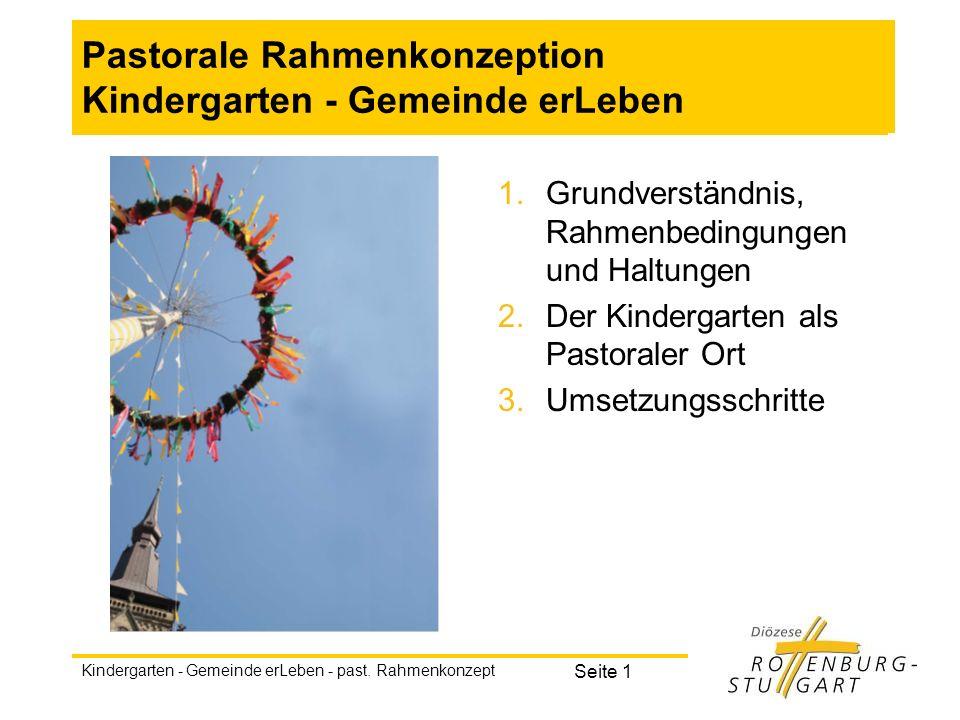 Pastorale Rahmenkonzeption Kindergarten - Gemeinde erLeben
