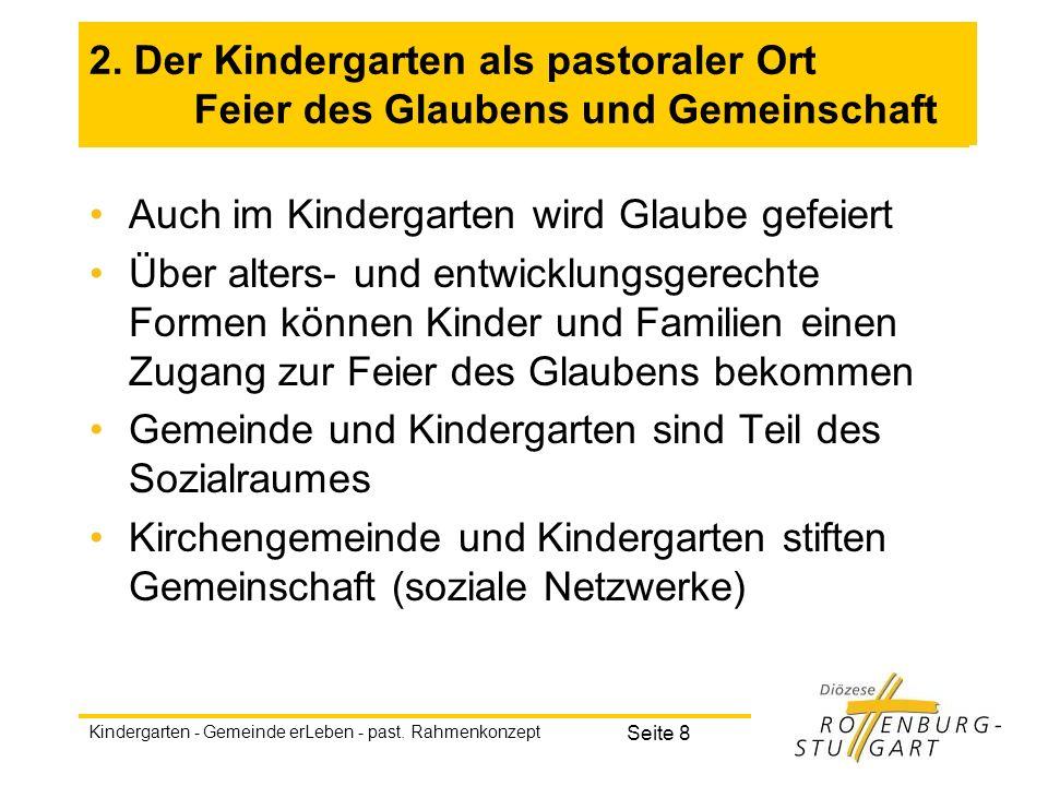 Auch im Kindergarten wird Glaube gefeiert