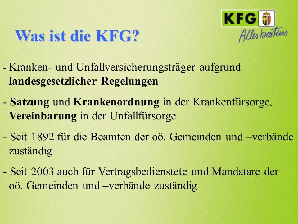 Was ist die KFG Kranken- und Unfallversicherungsträger aufgrund landesgesetzlicher Regelungen.