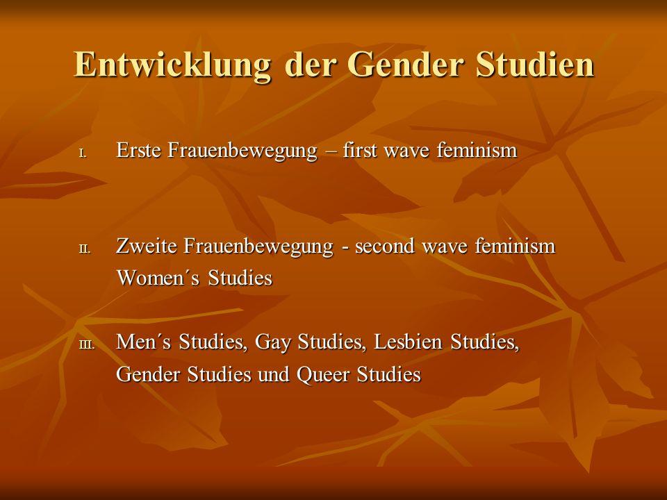Entwicklung der Gender Studien