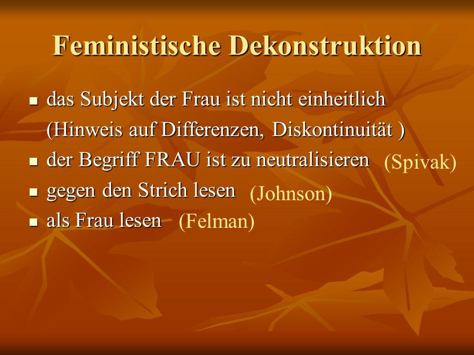 Feministische Dekonstruktion