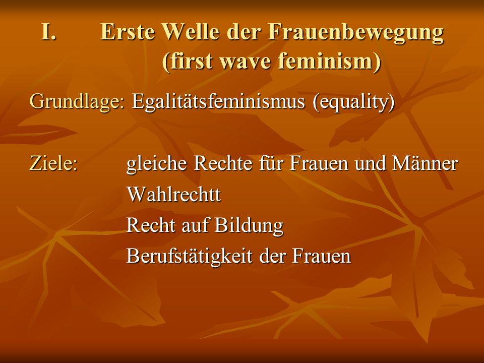 Erste Welle der Frauenbewegung (first wave feminism)