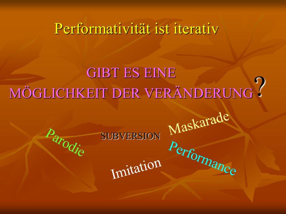 Performativität ist iterativ GIBT ES EINE