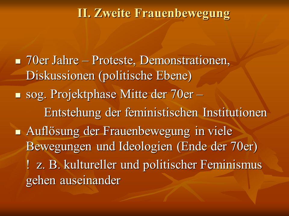 II. Zweite Frauenbewegung