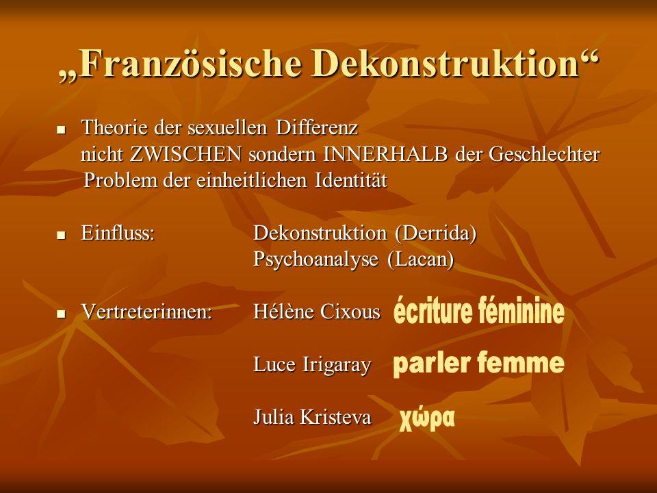 """""""Französische Dekonstruktion"""