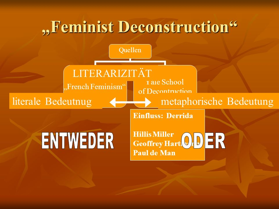 """Feminist Deconstruction"