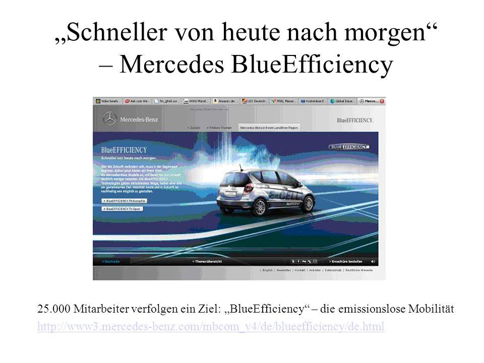 """""""Schneller von heute nach morgen – Mercedes BlueEfficiency"""