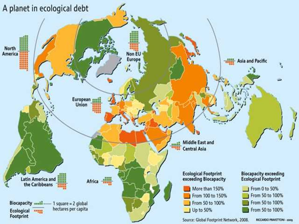 I.1 Der Zustand des Planeten: A Planet in ecological debt; Quelle: http://maps.grida.no/go/graphic/a-planet-in-ecological-debt
