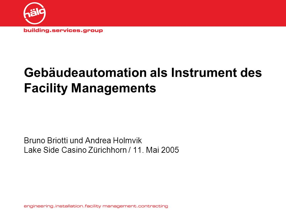 Gebäudeautomation als Instrument des Facility Managements