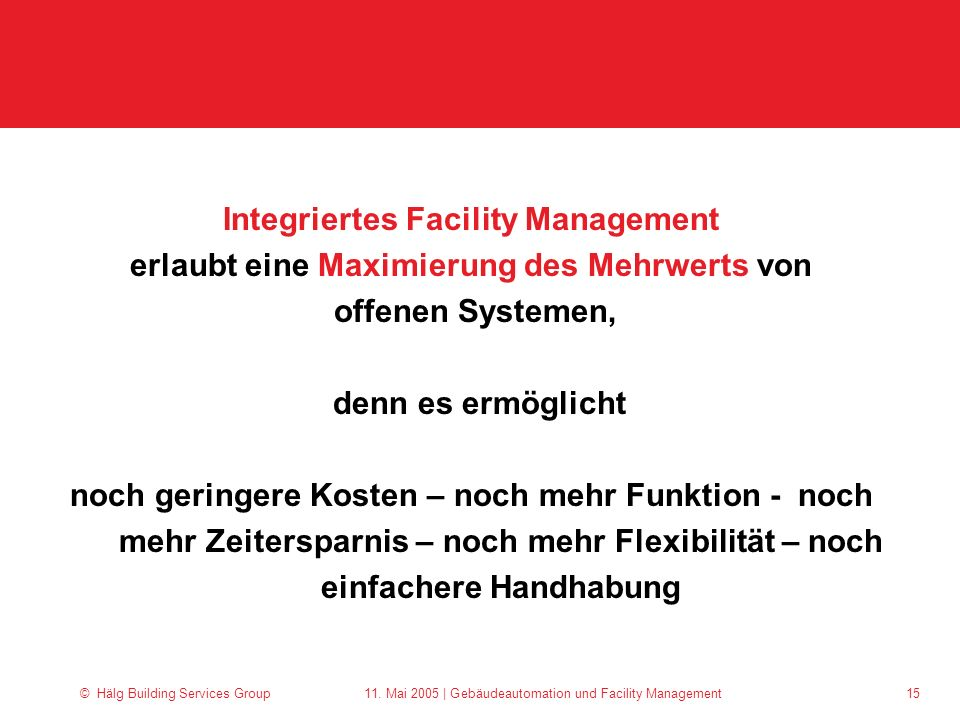 Integriertes Facility Management