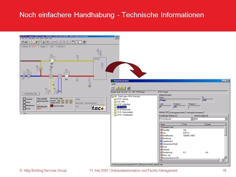 Noch einfachere Handhabung - Technische Informationen