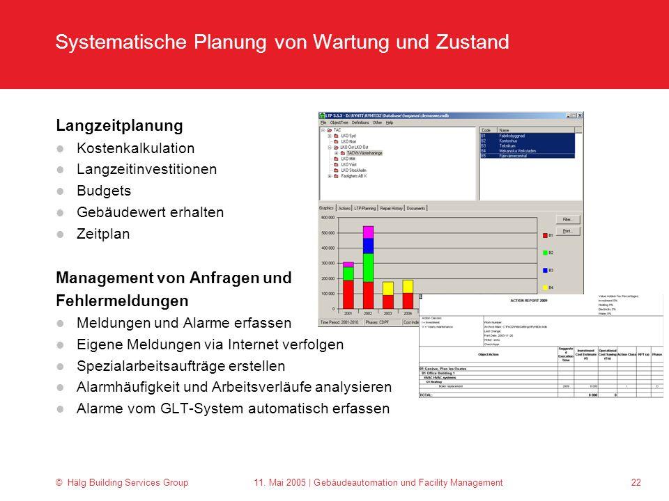 Systematische Planung von Wartung und Zustand