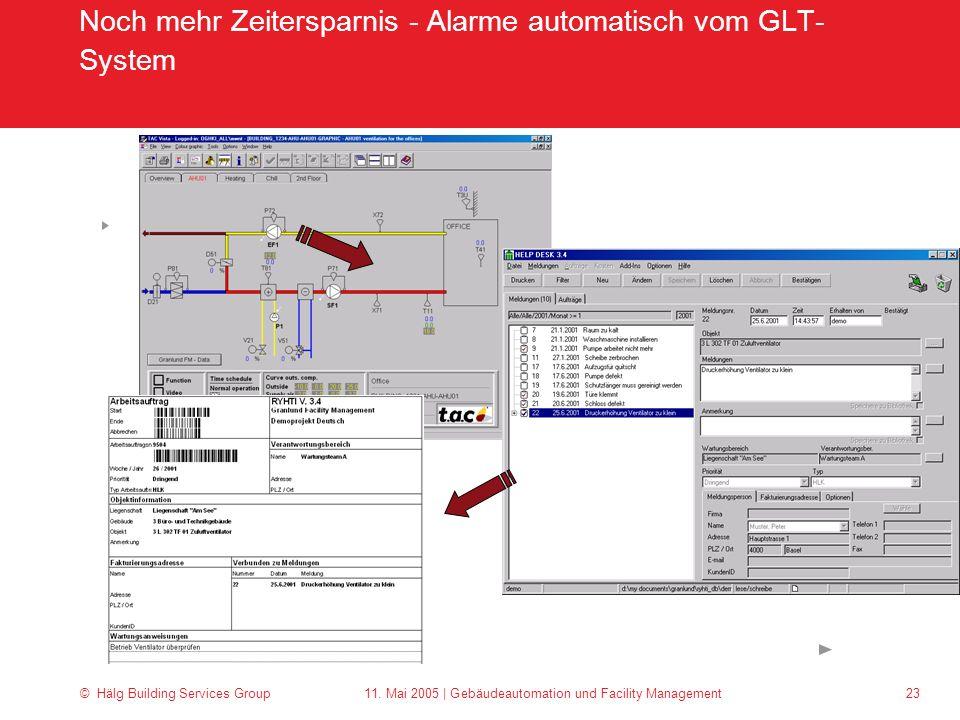 Noch mehr Zeitersparnis - Alarme automatisch vom GLT-System