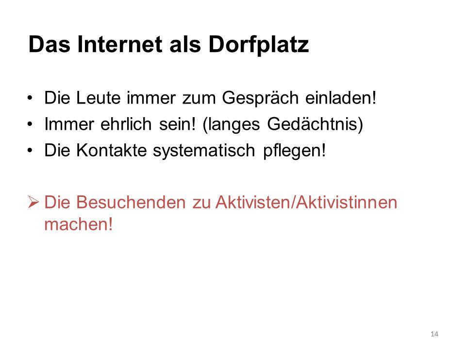 Das Internet als Dorfplatz
