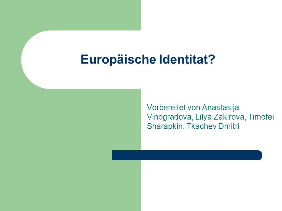 Europäische Identitat