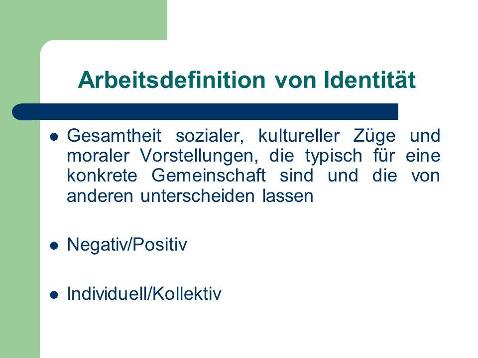 Arbeitsdefinition von Identität
