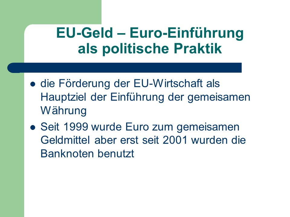 EU-Geld – Euro-Einführung als politische Praktik