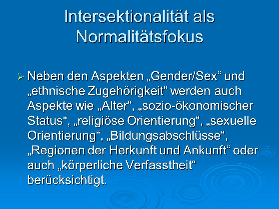 Intersektionalität als Normalitätsfokus