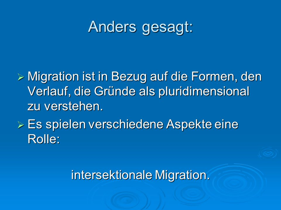intersektionale Migration.