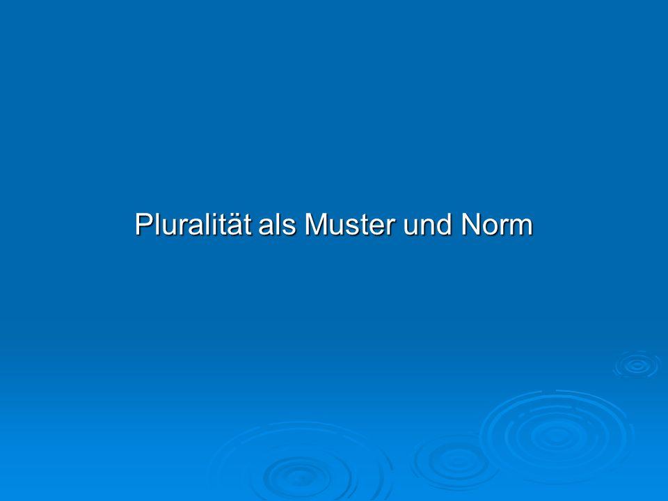 Pluralität als Muster und Norm